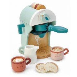 מכונת קפה לבן מעץ-Tender Leaf Toys