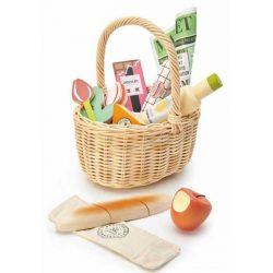 סלסלת קניות מעץ-Tender Leaf Toys