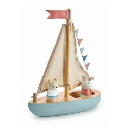 סירת מפרש מעץ-Tender Leaf Toys