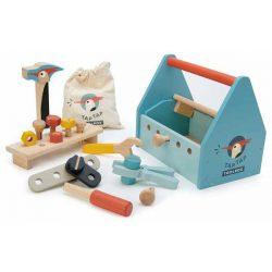 ארגז כלי עבודה מעץ-Tender Leaf Toys